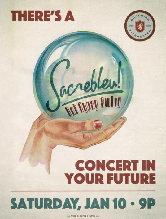 Concert poster print design